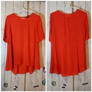 Vince Camuto Red Orange Blouse